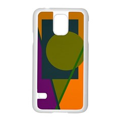 Geometric abstraction Samsung Galaxy S5 Case (White)
