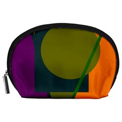 Geometric abstraction Accessory Pouches (Large)