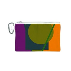 Geometric abstraction Canvas Cosmetic Bag (S)