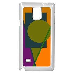 Geometric abstraction Samsung Galaxy Note 4 Case (White)