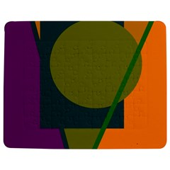 Geometric abstraction Jigsaw Puzzle Photo Stand (Rectangular)