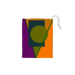 Geometric abstraction Drawstring Pouches (XS)