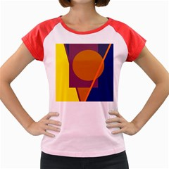 Geometric abstract desing Women s Cap Sleeve T-Shirt
