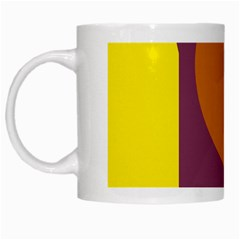 Geometric abstract desing White Mugs