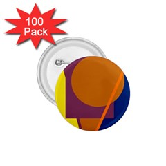 Geometric abstract desing 1.75  Buttons (100 pack)