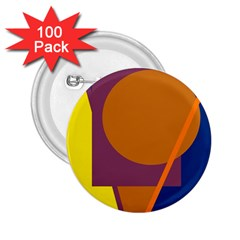 Geometric abstract desing 2.25  Buttons (100 pack)