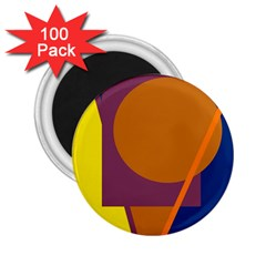 Geometric abstract desing 2.25  Magnets (100 pack)