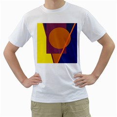 Geometric abstract desing Men s T-Shirt (White) (Two Sided)
