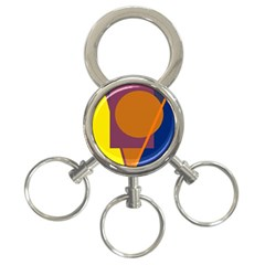 Geometric abstract desing 3-Ring Key Chains