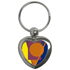 Geometric abstract desing Key Chains (Heart)