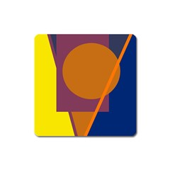 Geometric abstract desing Square Magnet