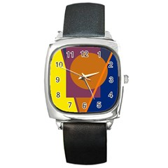 Geometric abstract desing Square Metal Watch