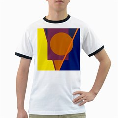 Geometric abstract desing Ringer T-Shirts