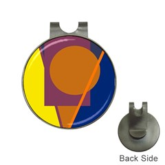 Geometric abstract desing Hat Clips with Golf Markers