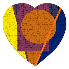 Geometric abstract desing Jigsaw Puzzle (Heart)