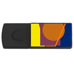 Geometric abstract desing USB Flash Drive Rectangular (4 GB)