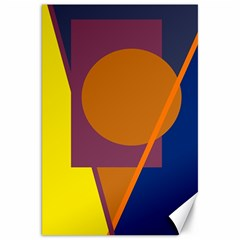 Geometric abstract desing Canvas 20  x 30