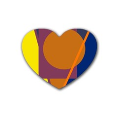 Geometric abstract desing Rubber Coaster (Heart)