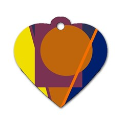 Geometric abstract desing Dog Tag Heart (Two Sides)