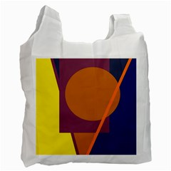 Geometric abstract desing Recycle Bag (One Side)