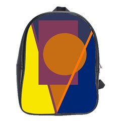 Geometric abstract desing School Bags(Large)