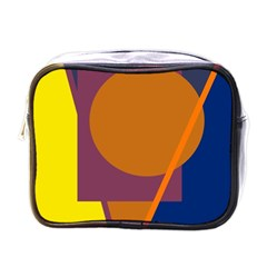 Geometric abstract desing Mini Toiletries Bags