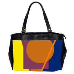 Geometric abstract desing Office Handbags (2 Sides)