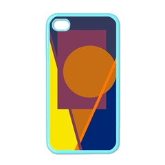 Geometric abstract desing Apple iPhone 4 Case (Color)