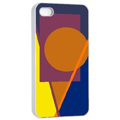 Geometric abstract desing Apple iPhone 4/4s Seamless Case (White)