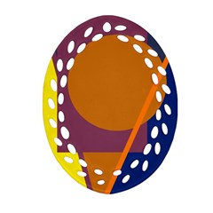 Geometric abstract desing Oval Filigree Ornament (2-Side)