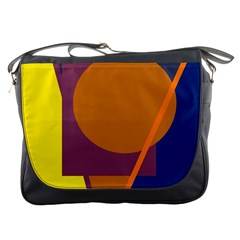 Geometric abstract desing Messenger Bags