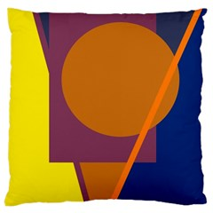 Geometric abstract desing Large Cushion Case (One Side)
