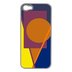 Geometric abstract desing Apple iPhone 5 Case (Silver)