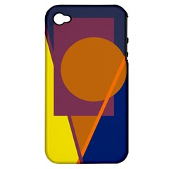 Geometric abstract desing Apple iPhone 4/4S Hardshell Case (PC+Silicone)