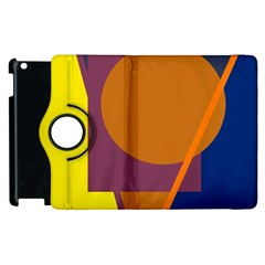 Geometric abstract desing Apple iPad 3/4 Flip 360 Case