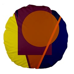 Geometric abstract desing Large 18  Premium Round Cushions