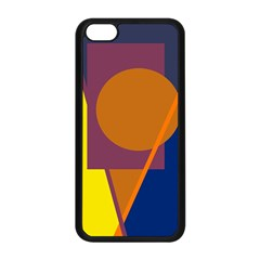 Geometric abstract desing Apple iPhone 5C Seamless Case (Black)