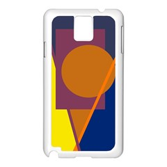 Geometric abstract desing Samsung Galaxy Note 3 N9005 Case (White)