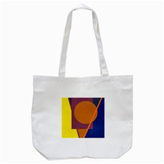 Geometric abstract desing Tote Bag (White)