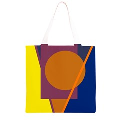 Geometric abstract desing Grocery Light Tote Bag