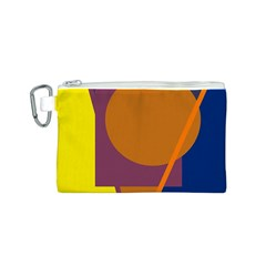 Geometric abstract desing Canvas Cosmetic Bag (S)