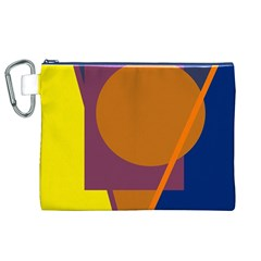Geometric abstract desing Canvas Cosmetic Bag (XL)
