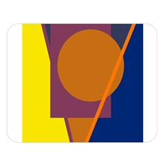 Geometric abstract desing Double Sided Flano Blanket (Large)