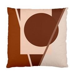 Brown geometric design Standard Cushion Case (Two Sides)