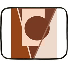 Brown geometric design Fleece Blanket (Mini)