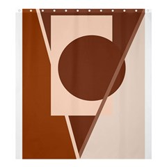 Brown geometric design Shower Curtain 66  x 72  (Large)