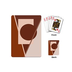Brown geometric design Playing Cards (Mini)