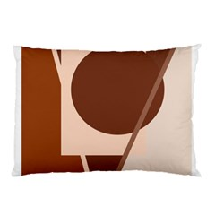 Brown geometric design Pillow Case (Two Sides)