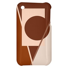 Brown geometric design Apple iPhone 3G/3GS Hardshell Case