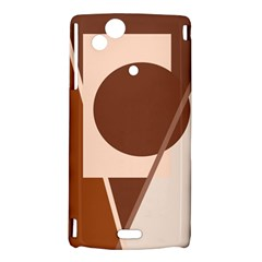 Brown geometric design Sony Xperia Arc